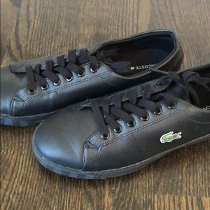 Lacoste all black sneakers